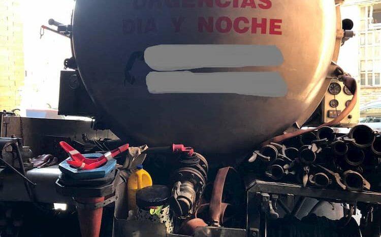 RENAULT 14 TN OCASIÓN CUBA INOX + EQUIPO SUCCIÓN E IMPULSIÓN lleno